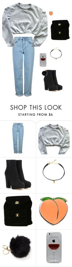 """strong woman"" by guls ❤ liked on Polyvore featuring Topshop, NIKE, Gianvito Rossi, Vanessa Mooney, Chanel, PINTRILL and Reyes"