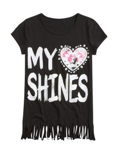 Long Graphic Fringe Tunic   Girls Indie Spirit New Arrivals   Shop Justice