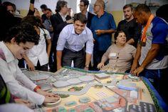 A prefeitura do Rio montou e divulgou uma maquete tátil para marcar os 500 dias para os Jogos Paraolímpicos