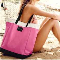 Victoria secret beach bag! Brand new. Still in plastic. Great size for the beach also a strong canvas material! Victoria's Secret Bags Totes