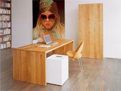 Scrivania / tavolo in legno massello TA01 PONTE - e15
