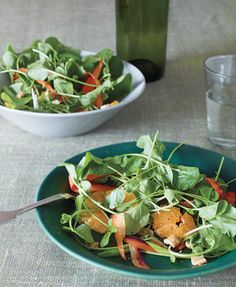 Shaved Carrots, Watercress and Cashews with Orange Vinaigrette