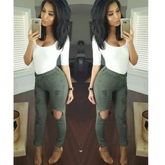 """@itsmsmonica on Instagram: """"Casual dinner #outfit #ootn Bodysuit & jeans @fashionnova code xomonicas Shoes @cicihot (last yr)"""""""
