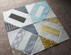 Cracker Scraps by Cut To Pieces, via Flickr - love the colors and the block