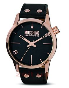 Moschino | Moschino Watch With Leather Strap MW0204 at ASOS