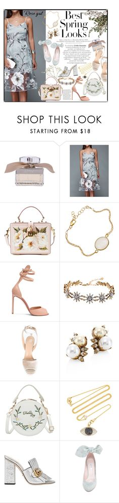 """""""Many ways to style the organza dress"""" by styling-w-mabel ❤ liked on Polyvore featuring H&M, Chloé, Dolce&Gabbana, Francesco Russo, Last True Angel, Giuseppe Zanotti, Erickson Beamon, Renee Lewis, Gucci and Carven"""