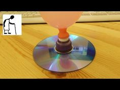 Balloon Powered Hover Jet + D.I.Y CD hovercraft + D.I.Y vinyl record hovercraft - YouTube