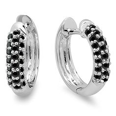 0.30 Carat (ctw) 18K White Gold Round Black Diamond Ladies Pave Set Huggies Hoop Earrings 1/3 CT	by DazzlingRock Collection - See more at: http://blackdiamondgemstone.com/jewelry/earrings/hoop/030-carat-ctw-18k-white-gold-round-black-diamond-ladies-pave-set-huggies-hoop-earrings-13-ct-com/#sthash.8dNupEzP.dpuf