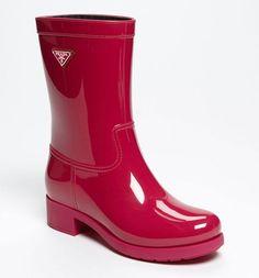Prada Rain Boot. See more colors at the link. http://bagblogshoe.com/rebecca-minkoff-metallic-mini-mac-handbag/
