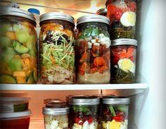 20 Things to Make in a Jar: Prep and jar ingredients for this weeks' meals! Yes!