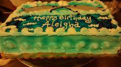 Ocean sheet cake