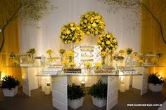 decoração de casamento amarelo e cinza - Pesquisa Google