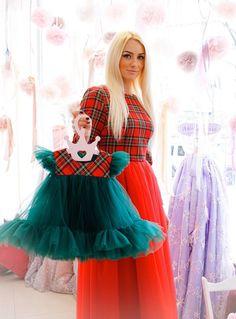 Toddler Flower Girl Dresses, Girls Blue Dress, Baby Girl Dresses, Toddler Dress, Baby Girl Frocks, Frocks For Girls, Christmas Dress Women, Plaid Christmas, Girls Holiday Dresses