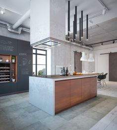 Designed by Dmitry Sheleg and ZROBYM Architects, this 280 square meter interior in Minsk attempts to shatter the stereotypes associated with industrial-influenc