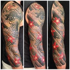 Japanese style koi tattoo by Rob Admiraal