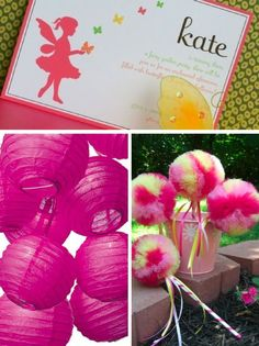 cute idea for invite (but abby colors) and NEED the poof wands