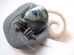 Michigan Earrings Upper Peninsula  Earrings by LupinePrairieGlass