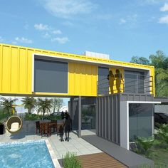 FIX House - Recanto do Lago... Amazon/Brazil... By FIX A.C.T. #container #containerhouse #containerhome #architecture #amazon