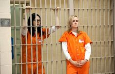 Laura Prepon and Taylor Schilling as Alex Vause and Piper Chapman