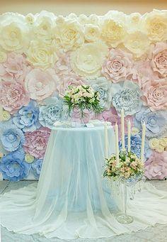 decoración con flores gigantes de papel19