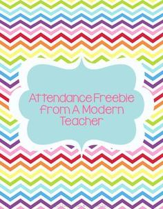 Here is a little freebie to keep track of attendance.  Just in case computers are down (if you take attendance online).    As always, be sure to Follow  the Store so you don't miss anything. Want more freebies?  Head to A Modern Teacher's Blog And chat with us over on Facebook by 'liking' A Modern Teacher