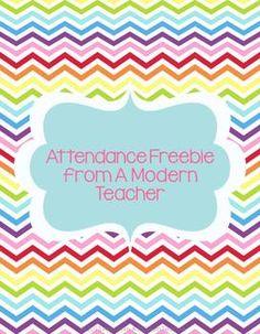 Attendance Chart Freebie