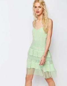 ASOS+Premium+Lace+Tiered+Mini+Dress