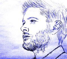 Cas?! Supernatural Dean, Cas, Fan Art