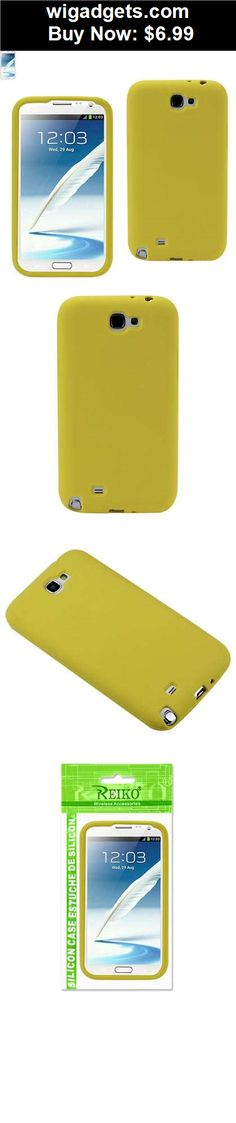 Silicone-Case: Silicon Case Samsung GALAXY NOTE 2/N7100 YELLOW - BUY IT NOW ONLY $6.99