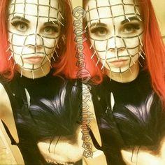 Hell raiser pin head makeup #pinhead #hellraiser #sfxmakeup #halloweenmakeup #halloween #cosplay