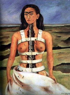 This is my favorite painting by Frida Kahlo. I have this in my room on a cross. - Molly