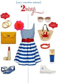 2 ways: july fourth dress