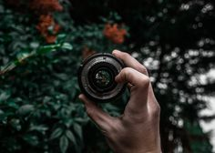 Person Holding Camera Lens  Free Stock Photo