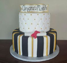 Quilted Graduation Cake