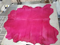 Love this huge hot pink hide. Any color available.  Create your own! @willistonweaves.com
