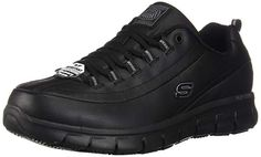 Find Skechers Women's Sure Track Trickel Slip Resistant Work Shoes - 76550 online. Shop the latest collection of Skechers Women's Sure Track Trickel Slip Resistant Work Shoes - 76550 from the popular stores - all in one Casual Work Shoes, Comfortable Work Shoes, Office Shoes, Nike Fashion, Fashion Shoes, Fashion Men, Style Fashion, Skechers Work