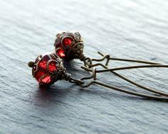 Ohrringe - Rote Laternchen von Perlenfontäne auf DaWanda.com