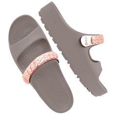 O shoes roccia con applicazione treccia oro rosa - .this week