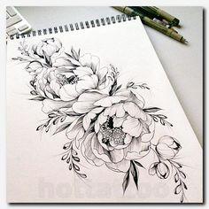 Bildergebnis für pfingstrosen tattoo - Tattoos - Tattoo Designs for Women Red Tattoos, Body Art Tattoos, Sleeve Tattoos, Tattoos For Guys, Tatoos, Female Arm Tattoos, Forearm Tattoos For Women, Arm Tattoos For Women Upper, Cover Up Tattoos For Women