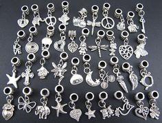 5-80pcs Tibetan Silver Metal Pendant Charm Fit Jewelry Makings 40 Style EB