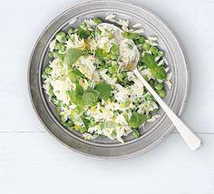 Broad bean, pea & orzo salad recipe - Recipes - BBC Good Food