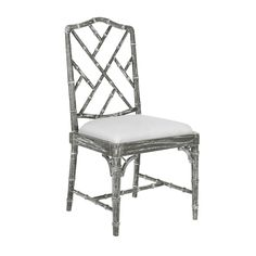 Bungalow 5 Quay Faux Bamboo Side Chair in Gray Side Chairs, Dining Chairs, Dining Rooms, Chippendale Chairs, Bungalow 5, Faux Bamboo, Grey Chair, Luxury Home Decor, Occasional Chairs