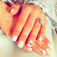 Wedding  gel manicure