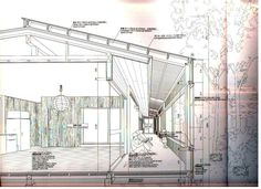 Atelier Bow wow sectional and plan perspectives Architecture Design Concept, Plans Architecture, Architecture Graphics, Architecture Drawings, Architecture Details, Bow Wow, Rendering Drawing, Technical Drawing, Sou Fujimoto