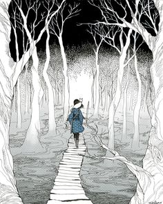 "Does the walker choose the path, or the path the walker?"" -Garth Nix, Sabriel."