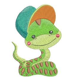 Snail, 2 Lizards, Turtle, adorable designs. Designs fit the 4x4, 5x7 and 6x6 hoop sizes. All sizes included. Baby Lizard Design: ...
