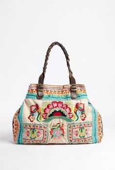 ShopStyle: Star Mela Kalaya Embroidered Ecru Bag