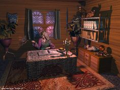 A witch's office