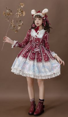 Your Highness -Winged Unicorns from The Universe- Lolita OP Dress