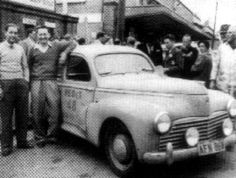 1953 RedEx Trial: Maitland pharmacist Ken Tubman was a surprise winner in a Peugeot 203 Citroen Ds, Peugeot, Trials, Rally, Antique Cars, 1950s, Vehicles, Antique Photos, Bicycles